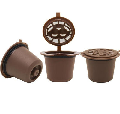 Reusable Coffee Capsules - 3 BROWN