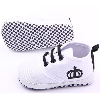Comfortable Baby Sneakers - White / 1