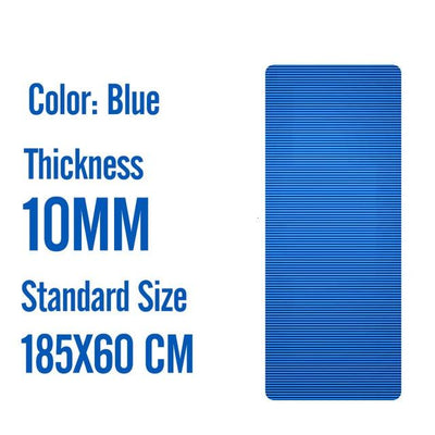 Men Gym Mats - 185X60X1M Blue