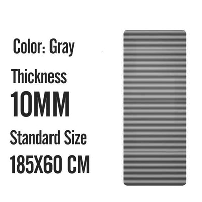 Men Gym Mats - 185X60X1M Gray