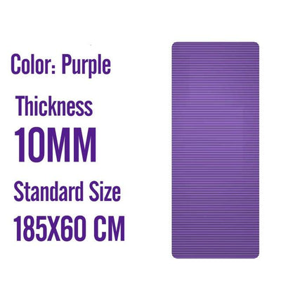 Men Gym Mats - 185X60X1M Pruple