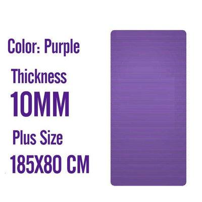 Men Gym Mats - 185X80X1 CM Purple