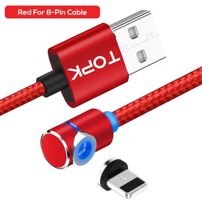 Magnetic Charging Cable - Red 8-Pin Cable / 1m