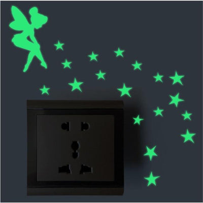 Home Decor Luminous Stickers - 1pc Green Fairy