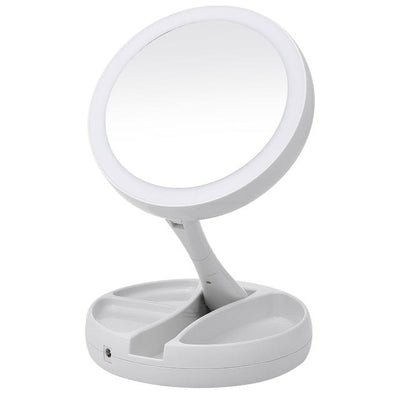 Foldaway Mirror - LED Makeup Mirror
