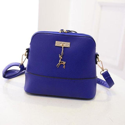 Vintage Nubuck Leather Bag - Blue