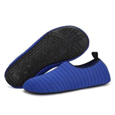 Womens and Mens Water Shoes Barefoot Quick-Dry Aqua Socks - Blue / 38