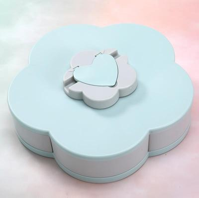 Rotating Food Container - Blue