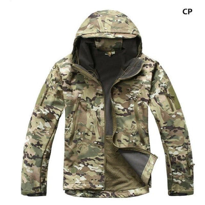 Softshell Tactical Hooded Jacket - CP / S