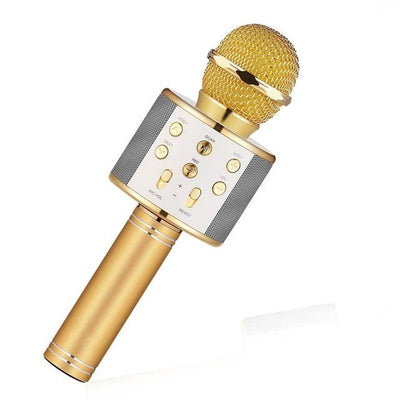 Wireless Bluetooth Karaoke Microphone - Gold