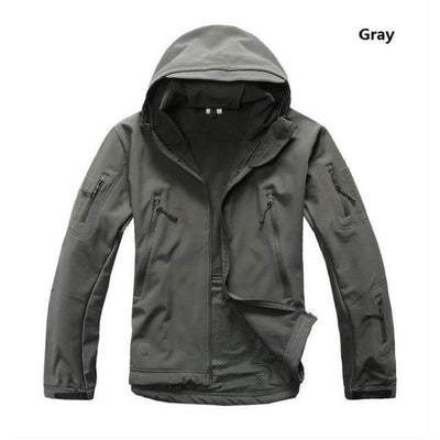 Softshell Tactical Hooded Jacket - Gray / S