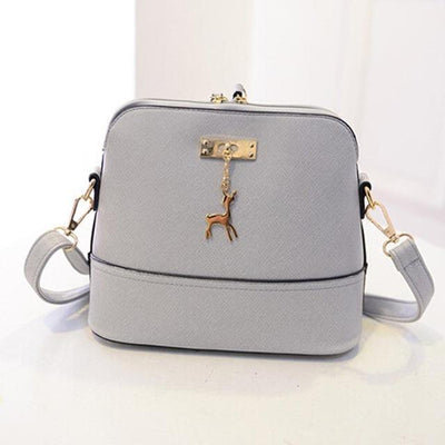 Vintage Nubuck Leather Bag - Gray