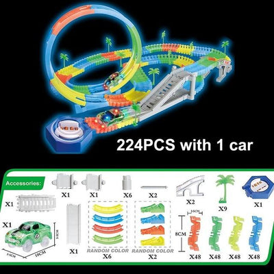 Magic Twister flexible Track - 224pcs with 1 car