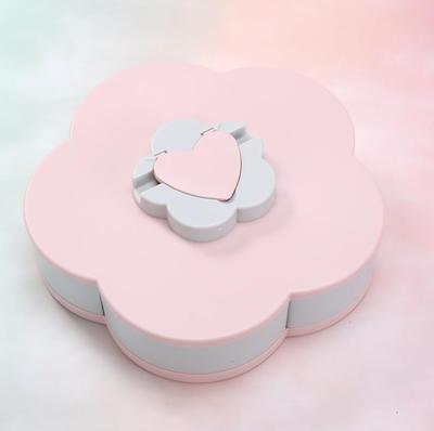 Rotating Food Container - Pink