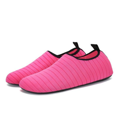 Womens and Mens Water Shoes Barefoot Quick-Dry Aqua Socks - Rose / 38