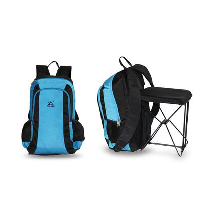 2-in-1 Chair Bag Backpack - blue