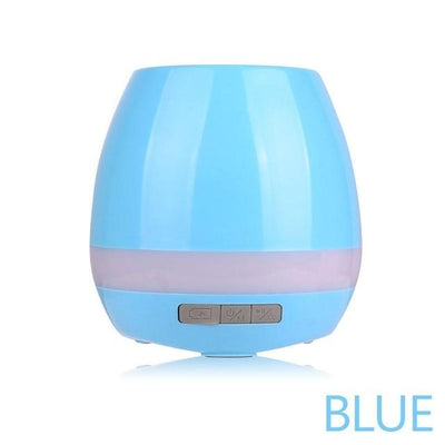 LED Bluetooth Music Planter Pot - blue