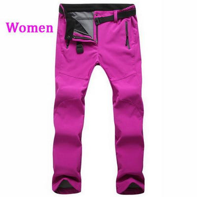 Womens Snow Pants with Fleece Interior - rose / S
