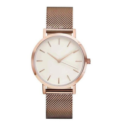 Stainless Steel Analog Watch - rose