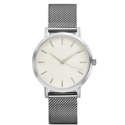 Stainless Steel Analog Watch - silver