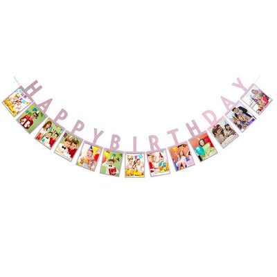 Baby Birthday Banner - purple birthday