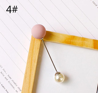 Imitation Double Pearl Brooches - 4
