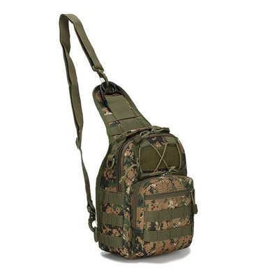 Hiking Shoulder Military Backpack - Army Green