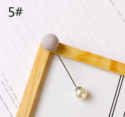 Imitation Double Pearl Brooches - 5