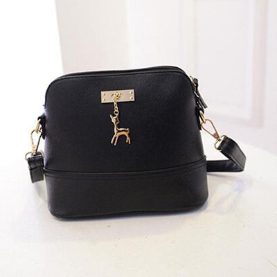 Vintage Nubuck Leather Bag - Black