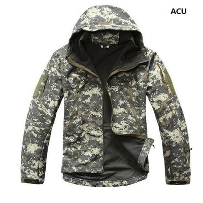 Softshell Tactical Hooded Jacket - ACU / S