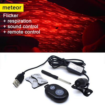 Car Atmosphere Lamp Interior Ambient Star Light - Multi-mode Meteor