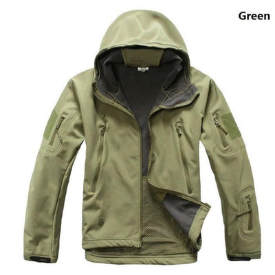 Softshell Tactical Hooded Jacket - Green / S