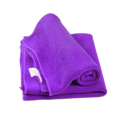 Soft Microfiber Towel Cloth - Purple / one