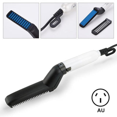 Multi Functional Beard Comb Straightener - style 1 au plug