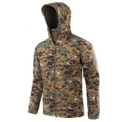 Softshell Tactical Hooded Jacket - WHITE / S