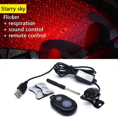 Car Atmosphere Lamp Interior Ambient Star Light - Multi-mode Starry