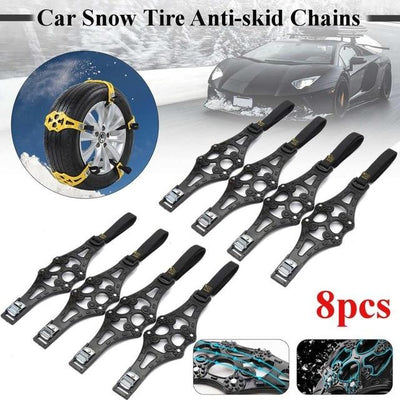 Anti-Skid Snow Tire Chains -