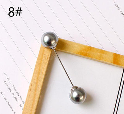 Imitation Double Pearl Brooches - 8