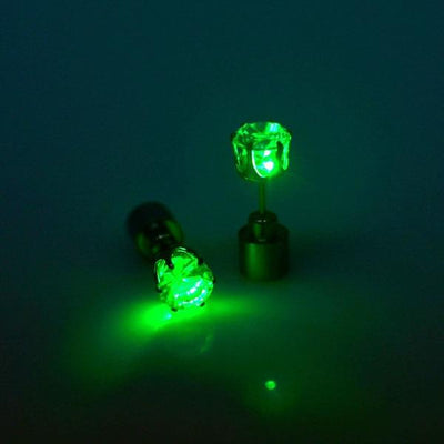LED Light Up Earring - green