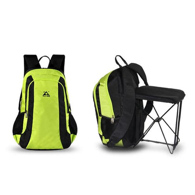 2-in-1 Chair Bag Backpack - green