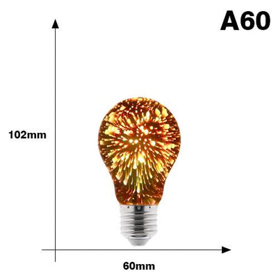 3D Decoration Firework Bulb - A60
