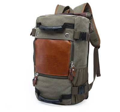 Vintage Traveler Backpack - Army Green