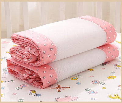 Breathable Crib Bumpers - Pink