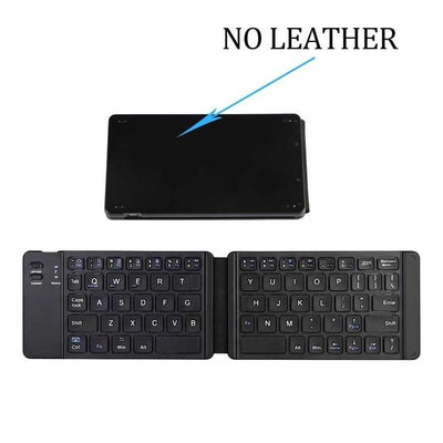Mobile Bluetooth Mini Keyboard - With Leather