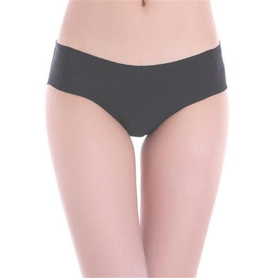 Invisible Seamless Panties - Black / M
