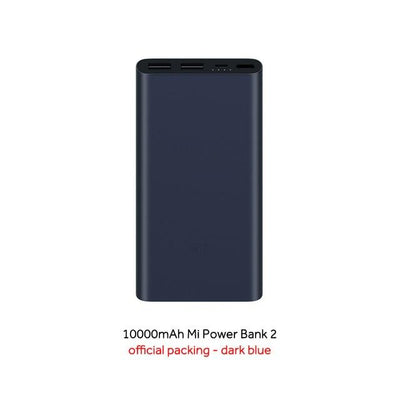 Dual-USB 10000 mAh Mi Power Bank - Black