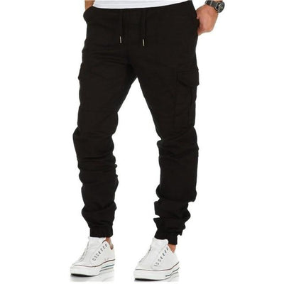 Multi Pocket Jogger Pants - BLACK / M