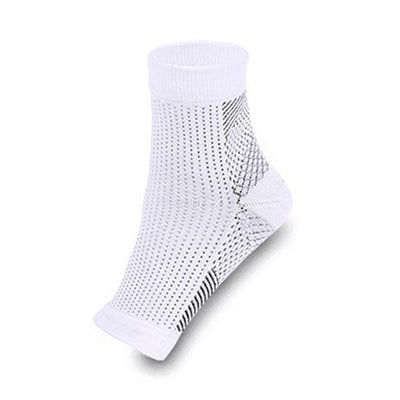 Anti Fatigue Ankle Support Sock - White / M