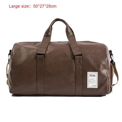 Hand Leather Duffle Bag - Big Brown