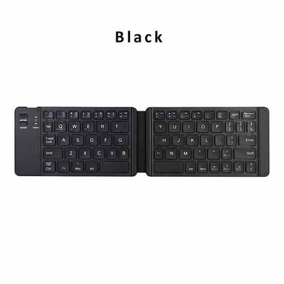 Foldable Bluetooth Travel Pocket Keyboard - Black
